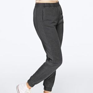 VS PINK pure black washed campus joggers